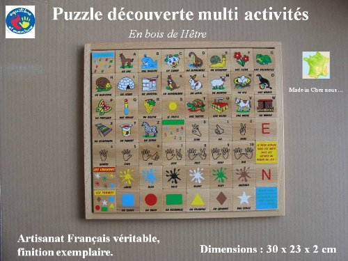 Puzzle en bois alphabet découverte et apprentissage, artisanat Français, LIVRAISON GRATUITE