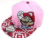 XINFA Super Mario Sombrero Dibujos Animados Rojo Super Mario Moda Sombrero para el Sol Mario Casual Cosplay Gorra de béisbol niños Fiesta Regalos