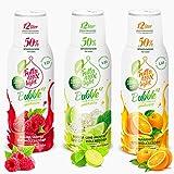 Light Low-Carb Fitness-Sirup Himbeere-Holunder-Lime-Minze-Orange von Frutta Max light | Ohne-Zucker | mit Stevia | 50% Fruchtanteil 3erPack(3x500ml)