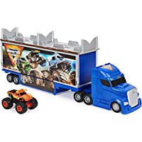 Monster Jam Official 2-in-1 Transforming Hauler Playset with Exclusive 1:64 Scale El Toro Loco Die-Cast Monster Truck Toy
