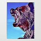 Beaxqb DIY Pintar por Numeros Oso gruñido Animal Pintura al óleo Kit con Pinceles y Pinturas Lienzo Regalo de Pintura para 40x50cmSin Marco