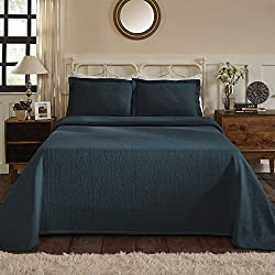 Superior 100% Cotton Medallion King Bedspread with Shams