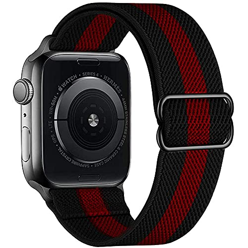 Apbands Cinturino Scrunchie per iwatch Band 44mm 42mm 40mm 38mm, Cinturino Sportivo in Nylon Elastico Regolabile per iwatch Serie 6 5 4 3 2 1/SE