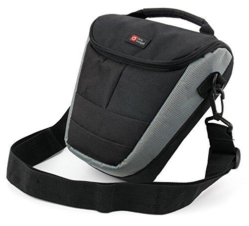 Duragadget - Custodia portaoggetti per Panasonic Lumix DMC-FZ2500 / DMC-G80 / DMC-G85 / DMC-LX10 / DMC-LX15 & Lumix FZ2000, accessori e cordino per il trasporto Bonus
