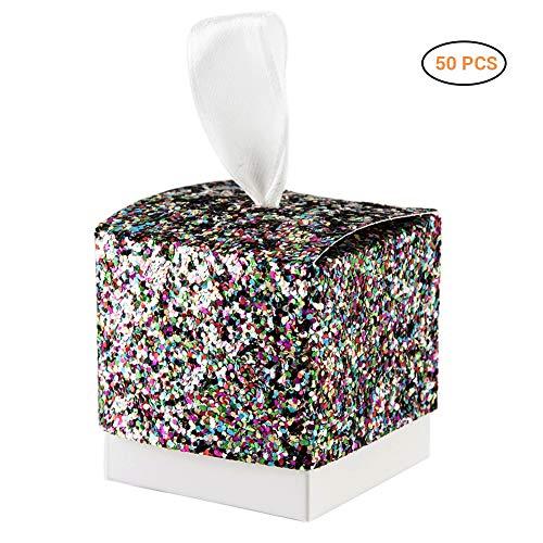 Vlinder vierkante snoepjes-geschenkdoos snoepgoed doos kartonnen doos decoratie voor bruiloft verjaardag party doop babyshower babyshower tuinfeest festival veelkleurig