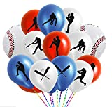 50PCS Baseball Party Latex Balloons and Foil Balloons - Sports Game/Graduation/Baseball Birthday Party Decorations Supplies Favors
