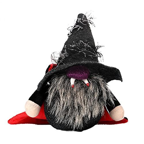Halloween Festival Fantasma Murciélago Vampiro Sombrero Puntiagudo Colmillos Bola Luz de Decoración Lámpara Led