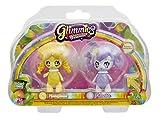 Glimmies - GLN016 - 2 Rainbow Friends 6 Cm - Modèles Honeymia/ Renelka
