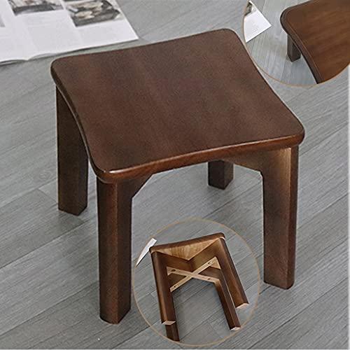 Print Otomano retro casa taburete de madera sólida marco taburete bajo creativo pequeño banco cuadrado taburete de los niños cambio de zapatos taburete salón mesa de café taburete silla