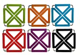 TENTA KITCHEN Heavy Duty Foldable Silicone Trivets/expandable/collapsible… (Square)