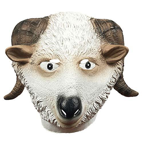POOO Mscara de Animal de Oveja Linda, Sombrero Divertido para Fiesta de Disfraces, Accesorios de Rendimiento de Parodia de Halloween