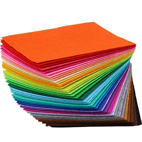 TRIXES - Juego de 40 hojas de fieltro multicolor para manualidades y...