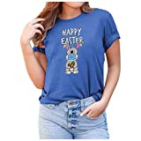 BUDAA Camiseta estampada de manga corta para hombre y mujer, camiseta informal de manga corta, informal, suelta, cuello redondo, estampado de tops