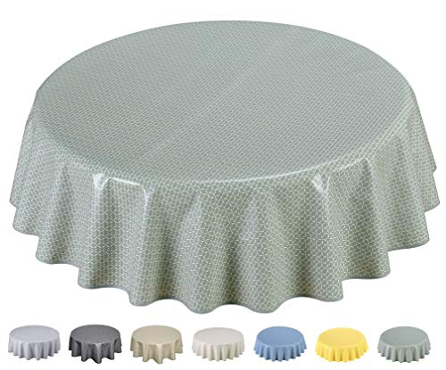 Home Direct Tovaglia in Tela Cerata plastificata 160cm (Rotonda 160cm, Verde Salvia)
