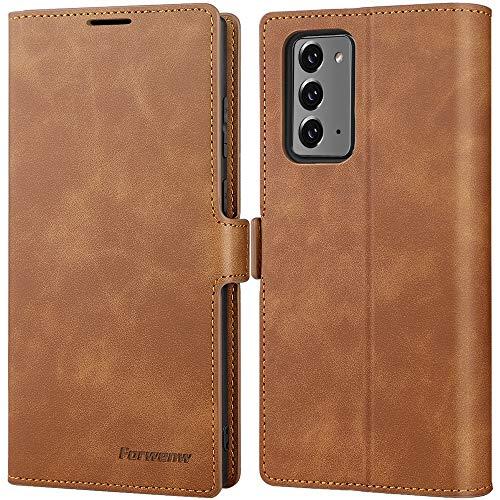 SUZCY Handyhülle kompatibel für Samsung Galaxy Note 20 5G Hülle, [Premium PU Leder] [Standfunktion] [Kartenfach] [Magnetverschluss] Flip Hülle Schutzhülle für Galaxy Note20 5G 6.7