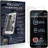 OnScreen Schutzfolie Panzerglas kompatibel mit Allview X4 Soul Infinity N Panzer-Glas-Folie = biegsames HYBRIDGLAS, Bildschirmschutzfolie, splitterfrei, MATT, Anti-Reflex - entspiegelnd