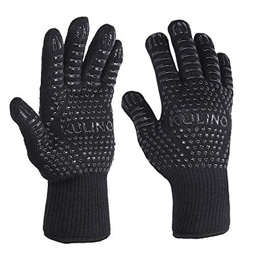 Kulino – Grillhandschuhe hitzebeständig – Grill Handschuh bis 500 Grad zum Grillen, Kochen und Backen