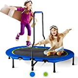 Merax Kids Trampoline with Handrail and Safety Cover, Mini Trampoline...