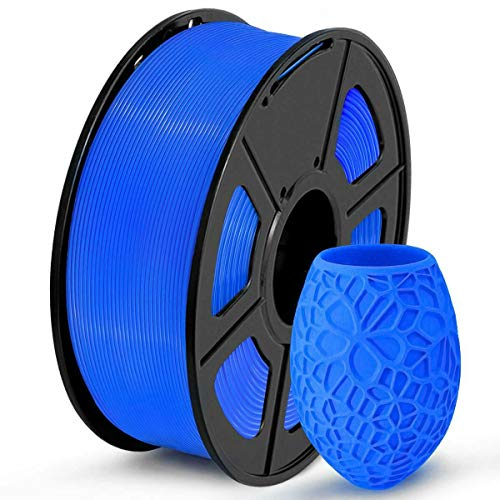 PLA Filament 1.75mm, 3D Printing PLA Filament for 3D Printer, 1kg Spool 3D Printing Material PETG, Dimensional Accuracy +/- 0.02 mm (Blue)