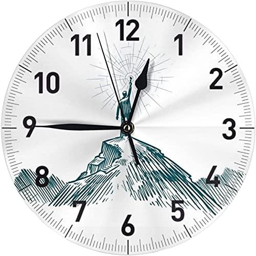 SBLB - Reloj de pared redondo para hombre, silencioso, funciona con pilas, fácil de leer para cocina, oficina, escuela, aula, decoración del hogar, reloj de pared