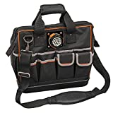 Klein Tools 55431 Tool Bag with Padded Shoulder Strap and Handles Has Lighted Tool Storage with 31 Pockets