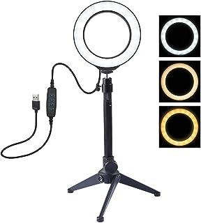 Anillo De Luz Led De 4.7 Pulgadas / 12 Cm, 3 Modos Regulables, Luces De Video USB para FotografíA, Soporte para TríPode De...
