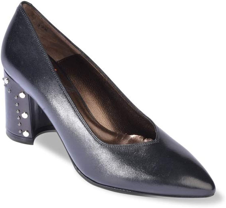 Klobige Leder D5146 Schuhe Decollet Stollen Schwarze Melluso Zehe OiuXTPkZ
