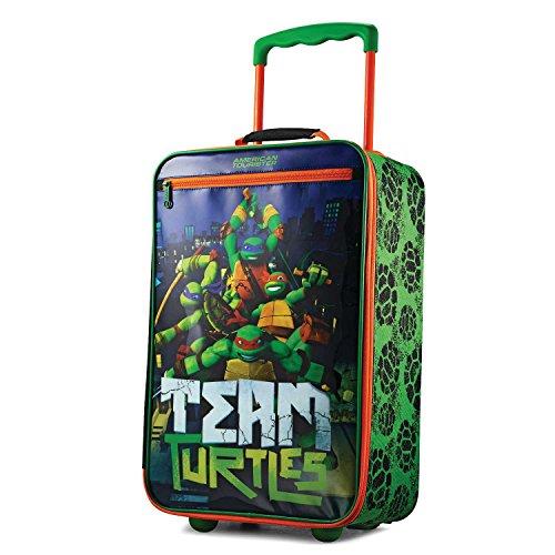 American Tourister Kids Softside Upright Luggage, Nickelodeon Ninja Turtles, Carry-On 18-Inch