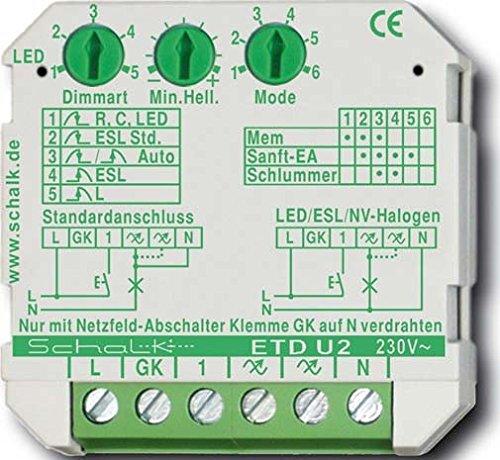 Schalk Universal-Tastdimmer UP ETD U2 230VAC 0-500VA Dimmer 4046929201100