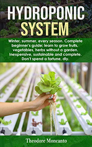 HYDROPONIC SYSTEM: Winter, summer, every season. Complete beginner's guide; learn to grow fruits, vegetables, herbs without a garden. Inexpensive, sustainable and complete. Don't spend a fortune diy. by [Theodore Moncanto]
