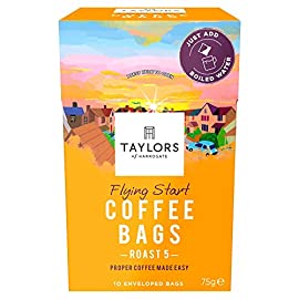 Taylors of Harrogate Flying Start Coffee Bags, 10 Enveloped Bags