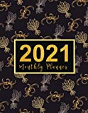 2021 Monthly Planner: large see it bigger 1-year planner | Schedule Organizer - Agenda Plan For The Next Year, 12 Months Calendar with Holiday, ... 2021 ) Luxury floral Design Gift for Woman