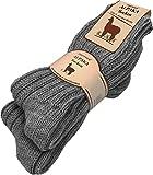 normani 2 Paar Alpaka Wintersocken aus Reiner Naturfaser 100prozent Alpaka- & Schafwolle Farbe Anthrazit Größe 43/46