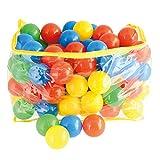 Bieco Bälle für Bällebad   100 Stück, Größe ca. 6 cm   Bunte Bälle   Kinder Bällebad Bälle   Plastic Balls   Geeignetes Bällebad für Babys   Bällebad Kinder