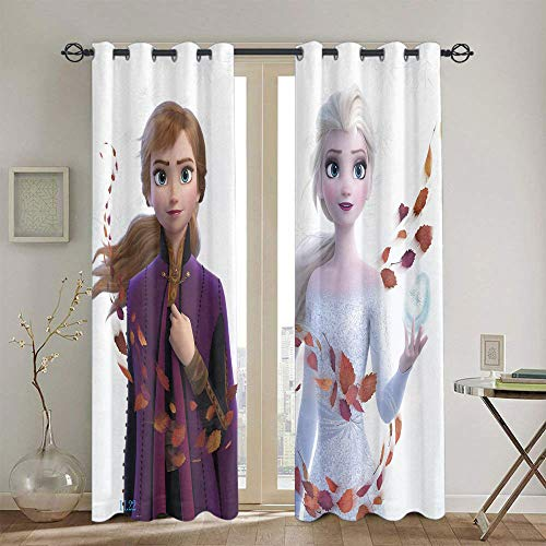Blackout Curtains for Bedroom Frozen Curtains for Girls Bedroom Treatment Curtains W42 x L45 Inch