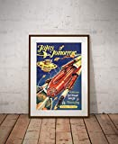"1950's Science Fiction POSTER! - (up to full-size 24"" x 36"") - Vintage - Spaceship - Space - Aliens - Rockets - SciFi - Books - Retro - Wall"