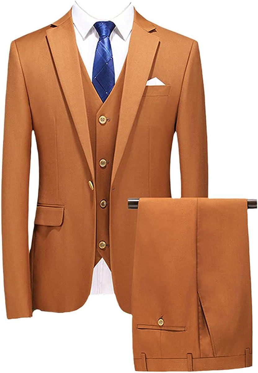 Dress Men's Wedding Suit Best Man Three-Piece Suit Jacket + Pants + Vest Custom Black Suit