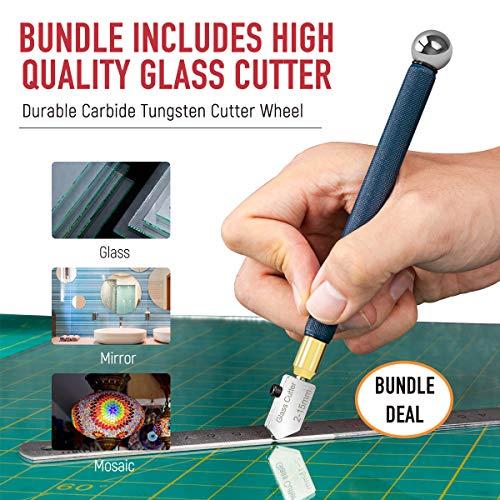 specchio piastrelle strumento di taglio di vetro ceramica. manico pistola per vetro colorato mosaico 1 x taglierino professionale in carburo vetro