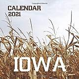 """Iowa: 2021 Wall Calendar - Mini Calendar, 8.5""""x8.5"""", 12 Months"""