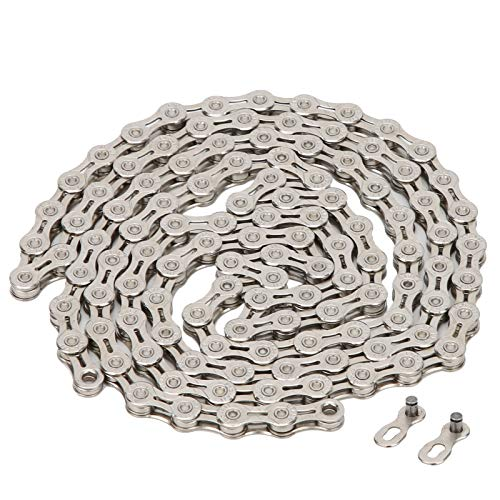 VGEBY Bicycle Chain, Steel Mountain Road Bike Chain Hollow Speed Change Lightweight Cycling Accessory