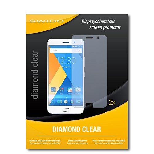 SWIDO 2 x Bildschirmschutzfolie Lenovo Zuk Z1 Schutzfolie Folie DiamondClear unsichtbar