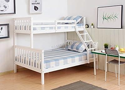 WestWood NEW Detachable Bunk Beds   Single Top Double base bed   Solid Wood Frame  Children's Bed room Furniture   Hostel Furniture   Adjustable Beds   Wooden Bed Frame Bed Sets - No Mattress Included