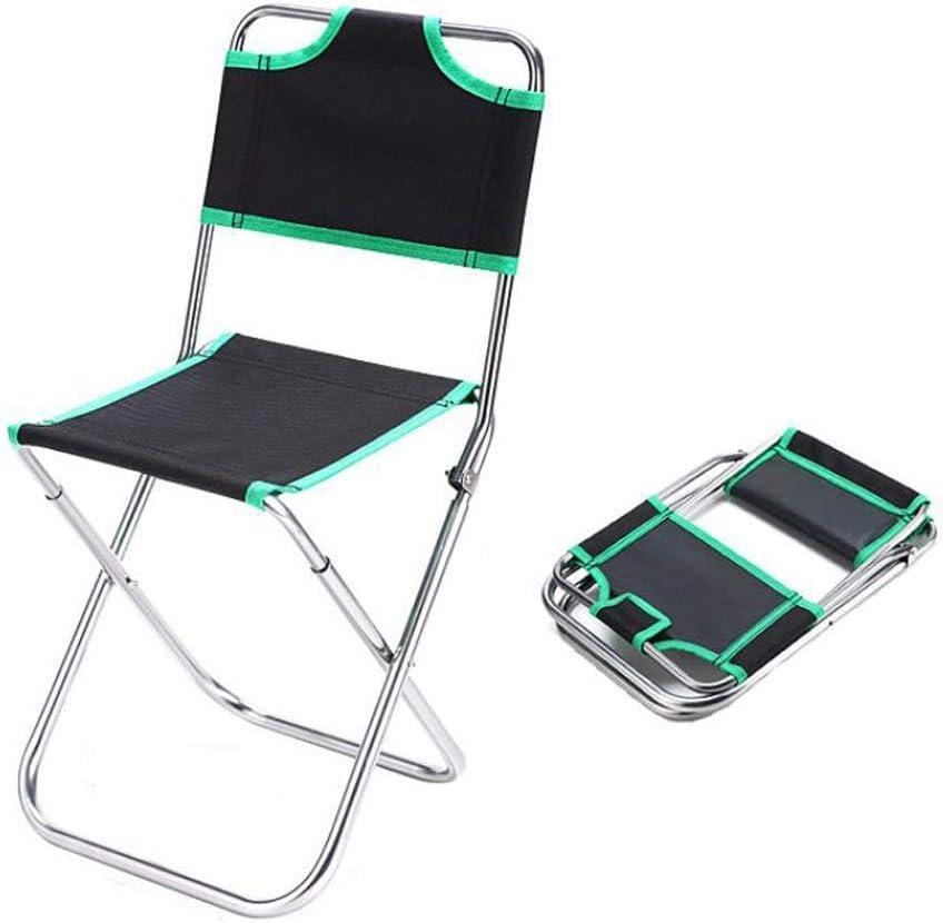 WJXBoos Chaise de Camping Pliante pour Les Loisirs de Plein air, Chaise de pêche, Portable léger, Résistant, Poches de Rangement, Capacité maximale 150 kg (Couleur: Vert) 2