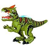 Kanzd Remote Control Dinosaur, Electronic Walking Spray Mist Large Spinosaurus Interactive Dinosaur Toy (A)
