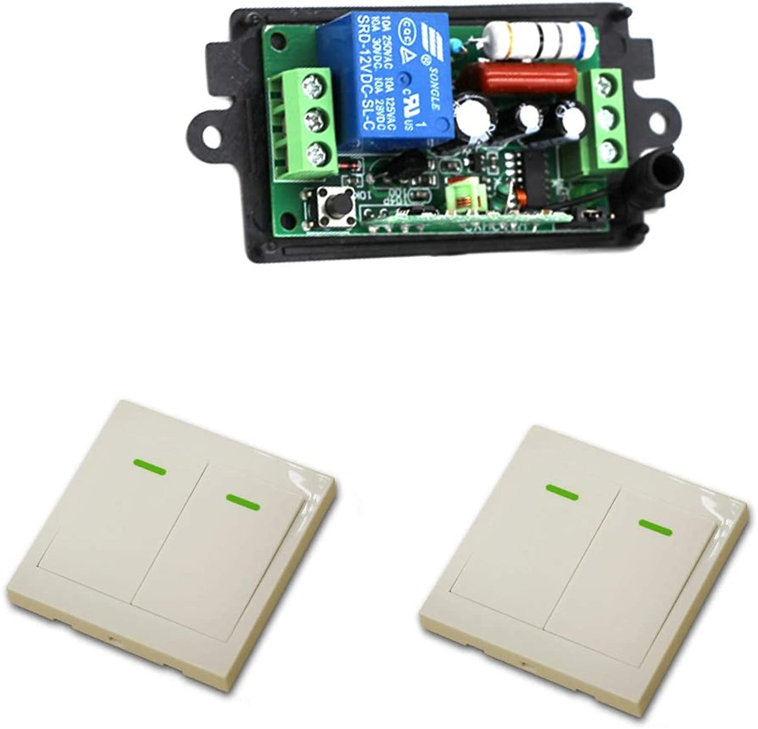 110V 220V Wireless Remote Control Switch Wireless Power Relay Receiver Transmitter Radio Light Switch Smart House  (color  433Mhz 110V)