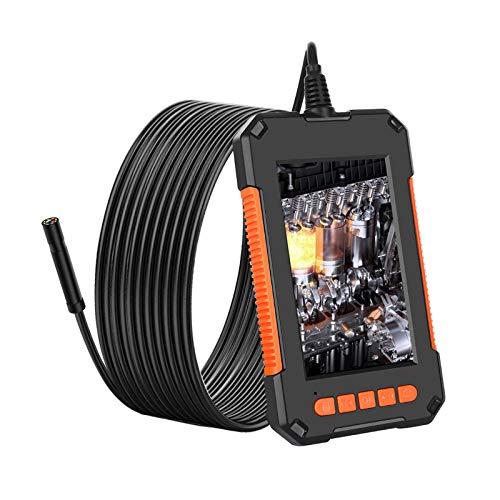 PaNt 4.3 \'\' Bildschirm Industrielles Endoskop 8mm Inspektionskamera IP67 wasserdicht Endoskop IPS-Bildschirm 180 Weitwinkel Schlangenkamera mit 8 LED-Leuchten