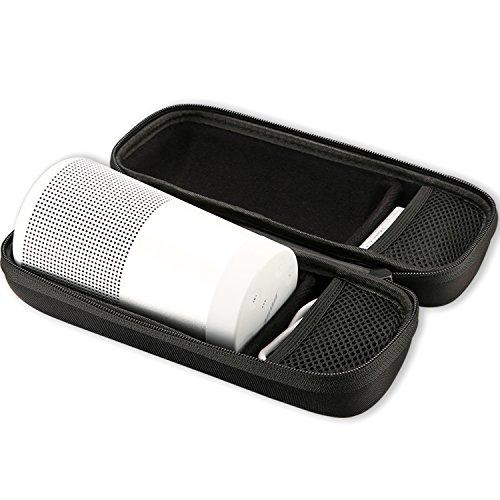 ProCase Bose SoundLink Revolve Custodia Ridida, Borsa da Viaggio Shockproof Protezione Shell Protezione per Bose SoundLink Revolve Altoparlante Bluetooth, Caricatore da parete e cavo USB -Nero