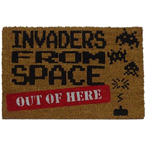 Koko Doormats Felpudo friki para Entrada de Casa 'Invaders from Space' Original y Divertido, 40x60 cm
