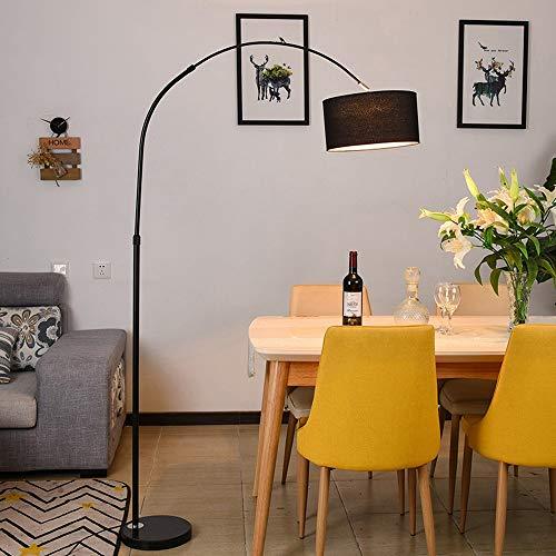 MILUCE Mesa de Comedor arqueada lampara de pie-Lampara de pie de marmol nordico lampara de pie de Pesca lampara de pie lampara Decorativa Accesorio de iluminacion de Piso Adecuado para Sala de Estar