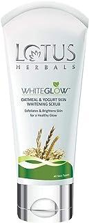 Lotus Herbals White Glow Oatmeal And Yogurt Skin Whitening Scrub, 100g